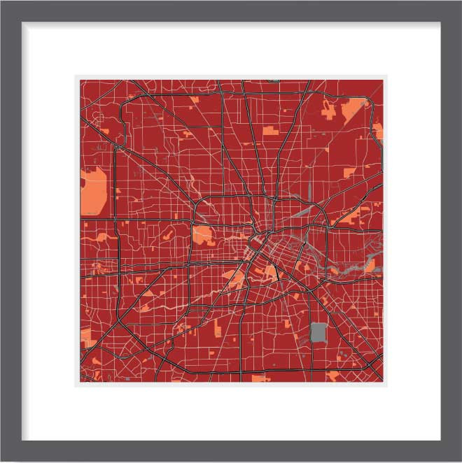Matt print 30cmx30cm Houston Stylish Brick