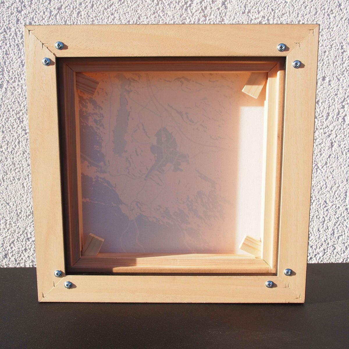 Framed canvas mount