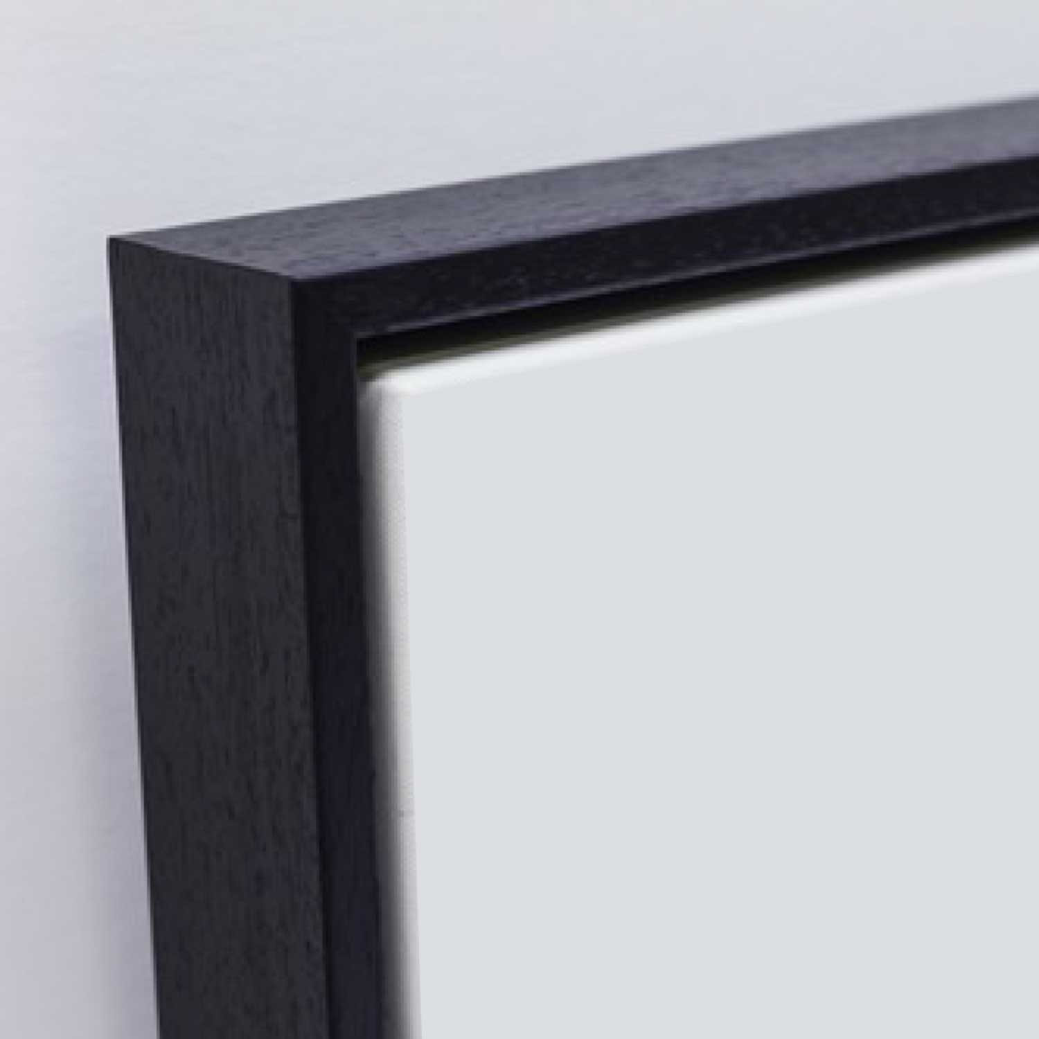 Framed Canvas Frankfurt in black night colour
