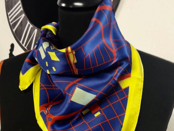 Brandfinity silk scarves in Geneva, collaboration with Point Pro