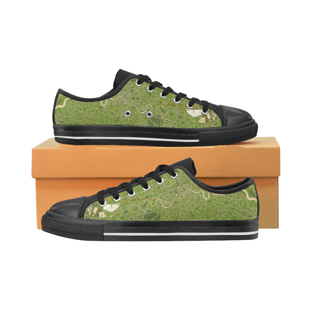 91d1e0edd624 Map of London olive Women s Shoes (Large Size) - beammehome.com