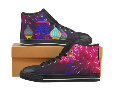 Moscow Kremlin High Top Canvas Women's Shoes