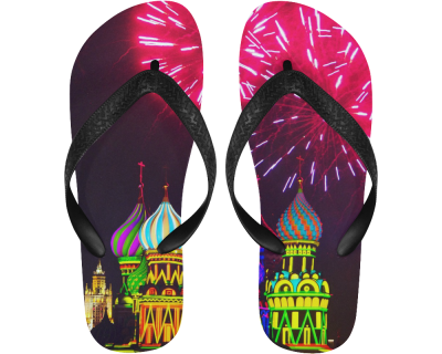 Moscow Kremlin Flip Flops (For both Men and Women)