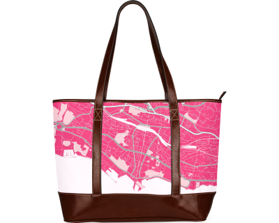 Map of Lausanne pink  Tote Bag (Model1642)