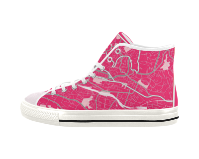 Map of Lausanne pink Women's Shoes