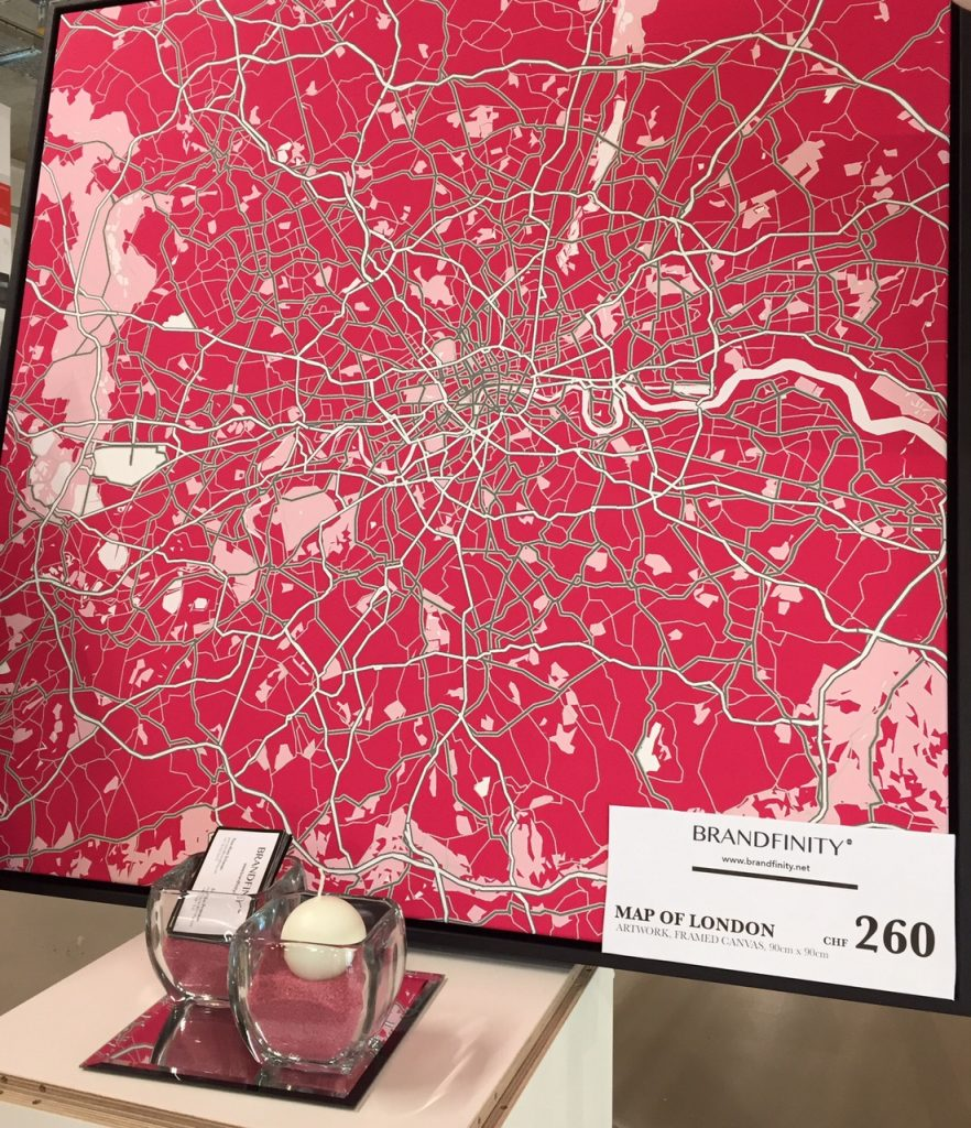Canvas London map