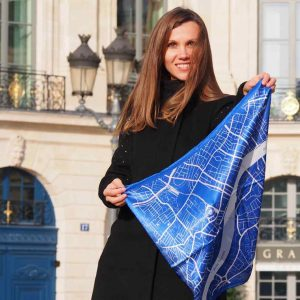 chelsea map silk scarf